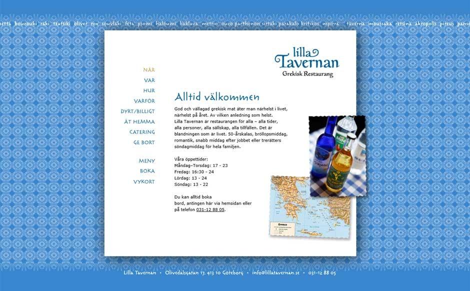 Lilla Tavernans tidigare hemsida